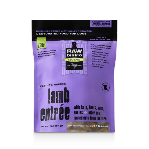 Raw Bistro Dehydrated Lamb Entree Dog Food 1LB