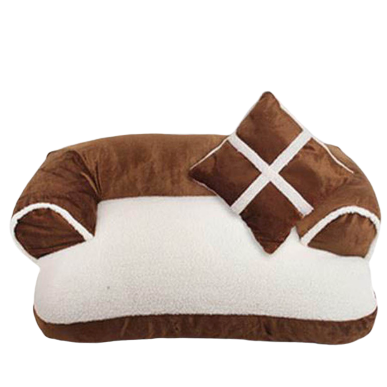 Sparky & Co Couch-Style Bed With Bolsters & Pillow Brown - Paw Naturals