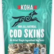 Koha Air-Dried Cod Skins Single Ingredient Dog Treat - Paw Naturals