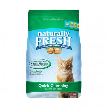 Naturally Fresh Unscented Clumping Walnut Cat Litter - Paw Naturals
