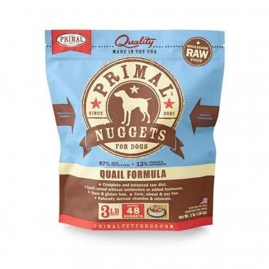 Primal Raw Frozen Dog Quail Nuggets 3lb
