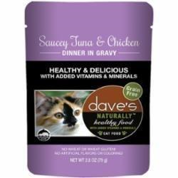 Dave's Pet Food Healthy Tuna Chicken 2.8oz Pch Canned Cat Food
