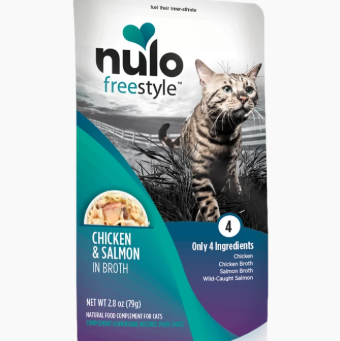 Nulo Freestyle Grain-Free Natural Food Compliment Cat Treat 2.8oz Chicken Salmon - Paw Naturals