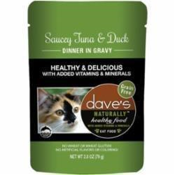 Dave's Pet Food Healthy Tuna Dck 2.8oz Pch Canned Cat Food Canned Dog Food