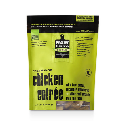 Raw Bistro Dehydrated Chicken Entree Dog Food 1lb