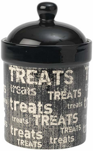 "Petrageous Vintage 9"" Treat Jar Black/Natural"
