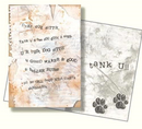 Dog Speak Dog Sitter Thank You Letter Card