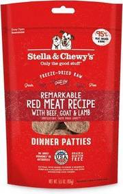 Stella & Chewy's Red Meat Dinner Patties Raw Freeze-Dried Dog Food 14oz - Paw Naturals
