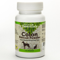 Animal Essentials Colon Rescue Powder (Phytomucil Powder) (30 Gram Bottle) - Paw Naturals