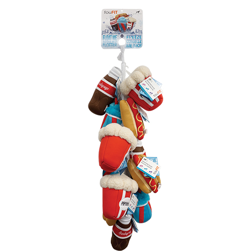 foufouBrands Movie Time Freeze & Float Dog Toys