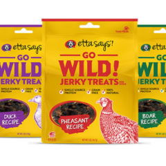 Etta Says Go Wild Jerky Treats for Dogs 5oz