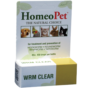 HomeoPet Worm Clear Herbal Remedy for Dogs & Cats - Paw Naturals