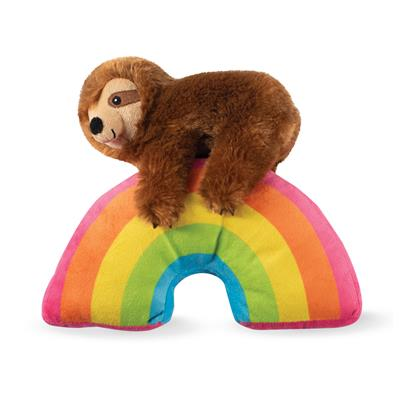 Pet Shop By Fringe Studio Girlie Sloth On A Rainbow - Paw Naturals