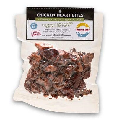 Fresh Is Best Freeze-Dried Chicken Heart Bites 3oz - Paw Naturals
