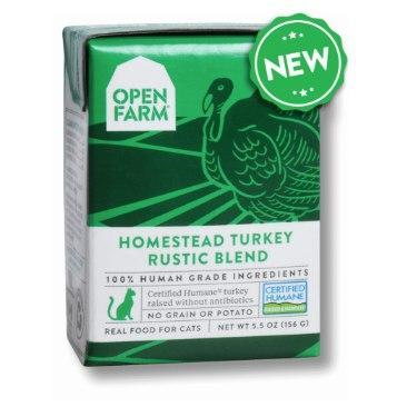 Open Farm Rustic Blend Turkey Canned Cat Food 5.5oz - Paw Naturals