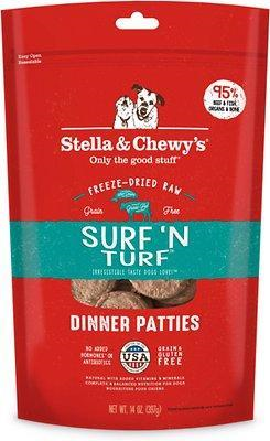 Stella & Chewy's Surf & Turf Dinner Patties Raw Freeze-Dried Dog Food