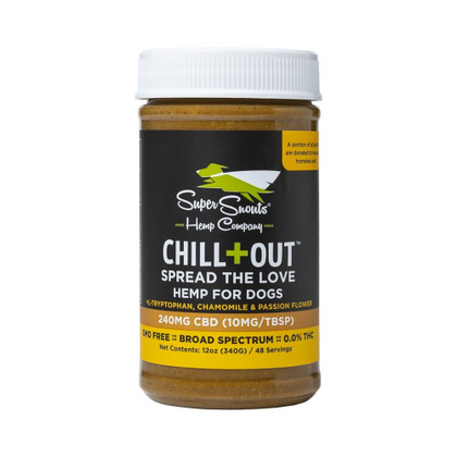 Super Snouts Nutty Dog CBD Peanut Butter Chill + Out 240mg - Paw Naturals