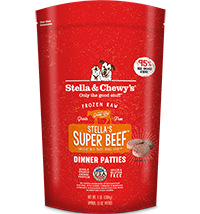 Stella & Chewy's Stella's Super Beef Dinner Patties Raw Frozen Dog Food
