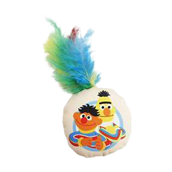 Pet Krewe Sesame Street Bert and Ernie Cat Toy