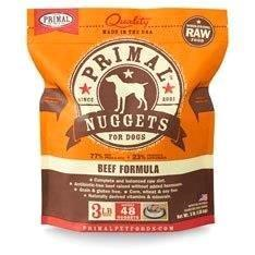 Primal Raw Frozen Dog Beef Nugget 3lb