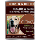 Dave's Pet Food Natural Healthy Chicken Rice 13oz Canned Dog Food