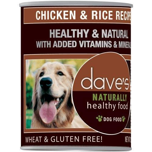 Dave's Pet Food Natural Healthy Chicken Rc 13oz Canned Dog Food