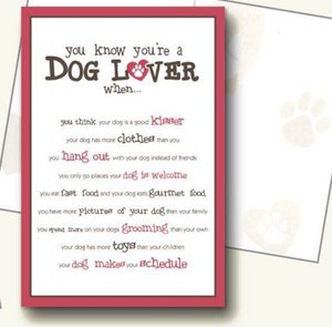 Dog Speak You Know You're A Dog Lover Card (Blank Inside)
