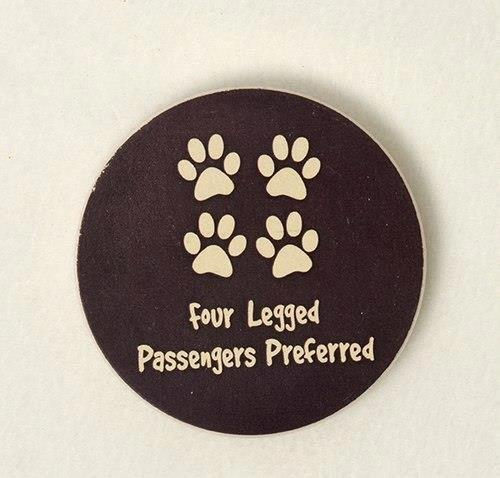Dog Speak Four Legged Passengers Preferred Car Coaster