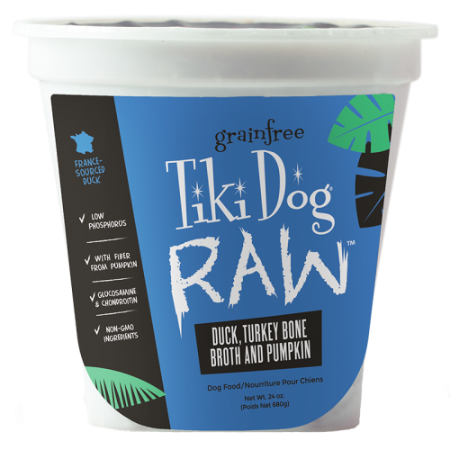 Tiki Pet Raw Frozen Duck & Turkey Bone Broth Dog Food