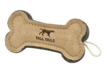 "Tall Tails Bone Natural Leather 6"" Dog Toy"