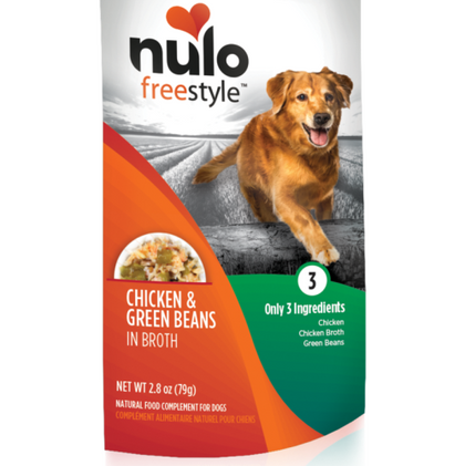 Nulo Freestyle Grain-Free Natural Food Compliment Dog Treat 2.8oz Chicken Green Bean - Paw Naturals