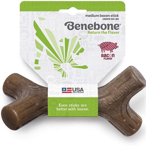 Benebone Bacon Stick Dental Dog Toy