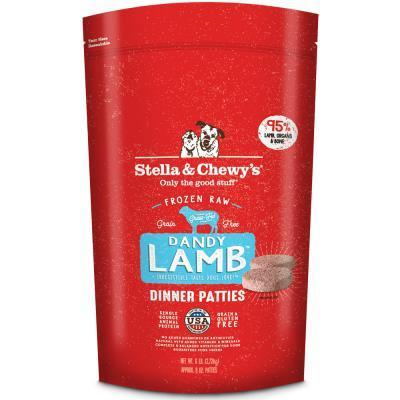Stella & Chewy's Dandy Lamb Dinner Patties Raw Frozen Dog Food 3LB - Paw Naturals