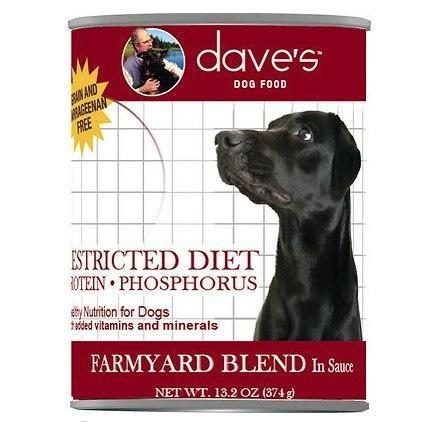 Dave's Pet Food Restricted Grain Free Prot Chicken 13.2oz Canned Cat Food Canned Dog Food