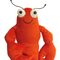fab dog Floppy Lobster Plush Dog Toy