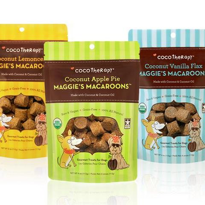 Coco Therapy Maggie's Coconut Macaroons Dog Treat - Paw Naturals