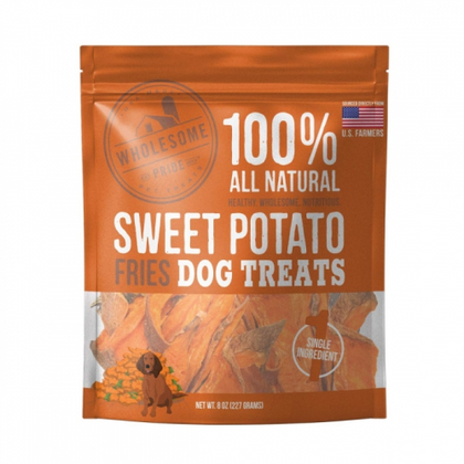 Wholesome Pride Sweet Potato Fries Dog Treat - Paw Naturals