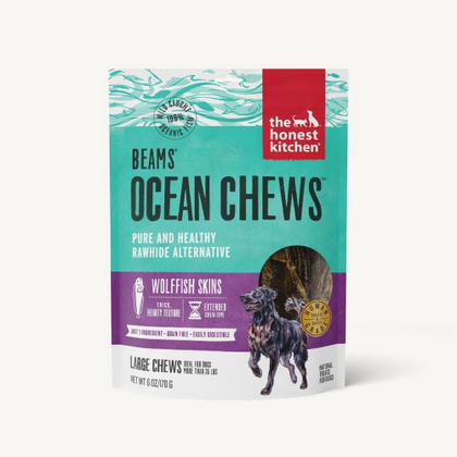 Honest Kitchen Beams Ocean Chews Wolffish Skins Large 7oz - Paw Naturals