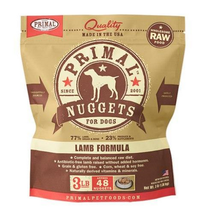 Primal Lamb Raw Frozen Dog Food - Paw Naturals