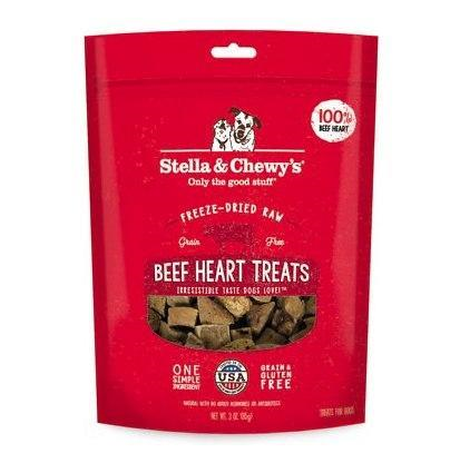 Stella & Chewy's Freeze Dried Beef Hearts Treat Dog 3oz