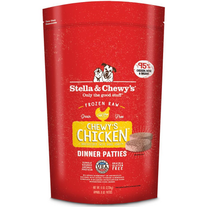 Stella & Chewy's Chewy's Chicken Dinner Patties Raw Frozen Dog Food - Paw Naturals