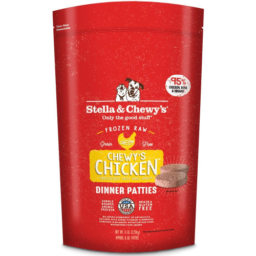 Stella & Chewy's Chewy's Chicken Dinner Patties Raw Frozen Dog Food