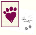 Dog Speak Thank You From The Bottom Of My Heart Card - Paw Naturals