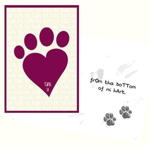 Dog Speak Thank You From The Bottom Of My Heart Card