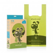 Earth Rated Biodegradeable Poop Bags Unscented with Handle 120ct - Paw Naturals