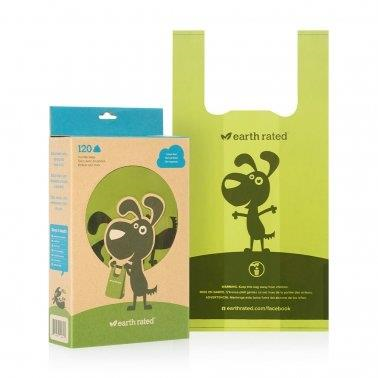 Earth Rated Biodegradeable Poop Bags Unscented with Handle 120ct
