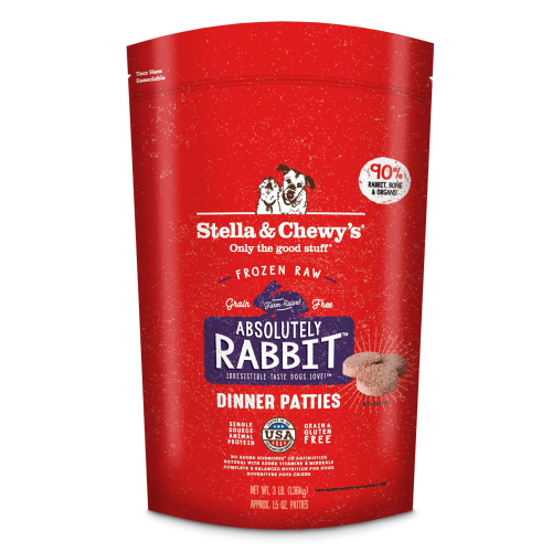 Stella & Chewy's Absolutely Rabbit Dinner Patties Raw Frozen Dog Food