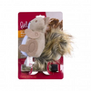 PetlinksPlush Player Squirrel Refillable Catnip Cat Toy - Paw Naturals