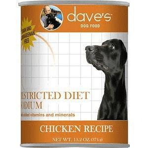 Dave's Pet Food Restricted Sodm Chicken 13oz Canned Dog Food Canned Dog Food
