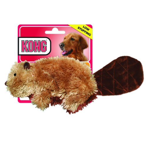 Kong Plush Beaver Small Dog Toy